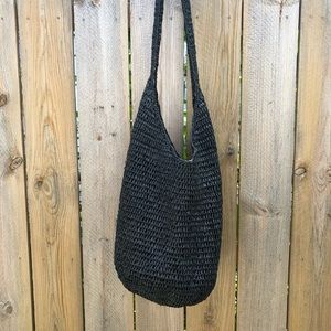 Handmade | Straw crossbody bag with snap closure
